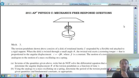 Thumbnail for entry Torsion Pendulum