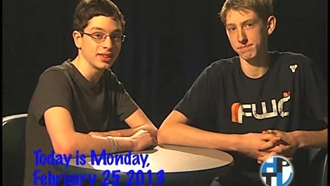 Thumbnail for entry Monday, February 25, 2013