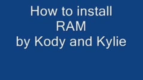 Thumbnail for entry Installing RAM on a PC
