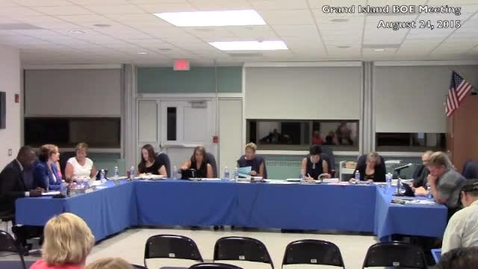 Thumbnail for entry Grand Island BOE Meeting 8-24-2015 Part 2