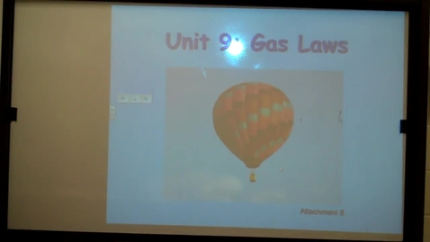 Thumbnail for entry Gas Laws Kinetic Molecular Theory