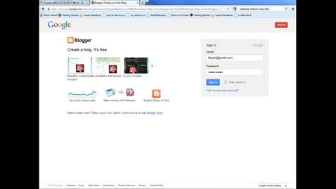 Thumbnail for entry Blogger - setup for posts and comments