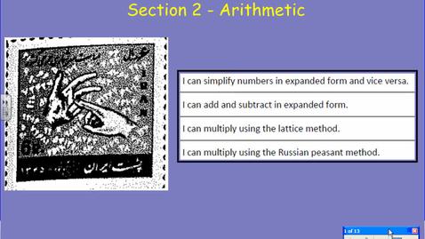 Thumbnail for entry Arabic Arithmetic