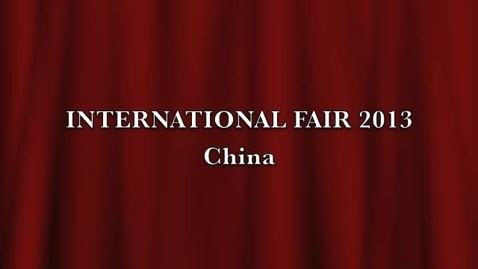 Thumbnail for entry International Fair 2013 CHINA