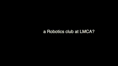Thumbnail for entry Robotics Club