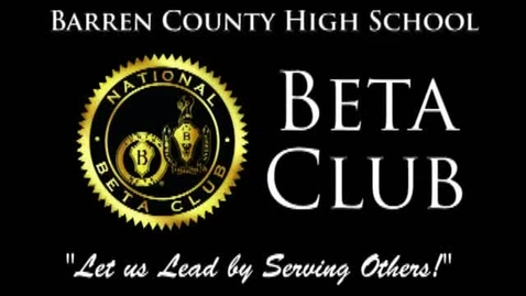 Thumbnail for entry Barren County High School | Beta Service Project