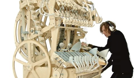 Thumbnail for entry Wintergatan - Marble Machine (music instrument using 2000 marbles)