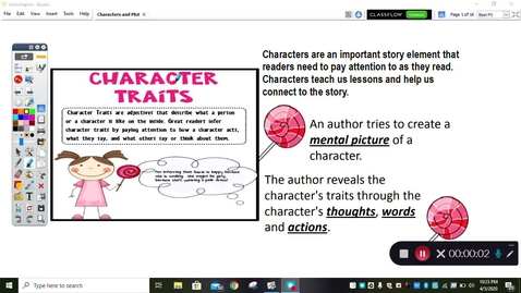 Thumbnail for entry April 20 Reading Mini-Lesson Character Traits