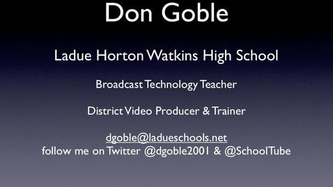 Thumbnail for entry AASL SchoolTube Presentation