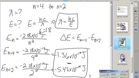 Thumbnail for entry Stephens Pre-AP Chemistry: (10-28-14) 5.2 Quantum model of atom
