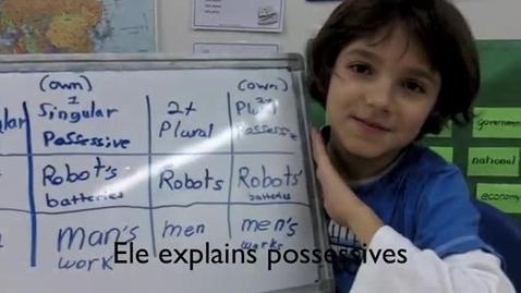 Thumbnail for entry Ele Explains Possessives
