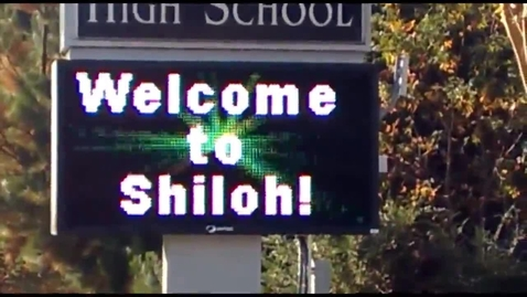 Thumbnail for entry Shiloh High School School Marquee Sign On Bethany Church Road