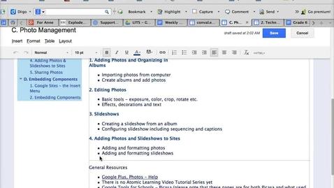 Thumbnail for entry Google Sites Insert Slideshow