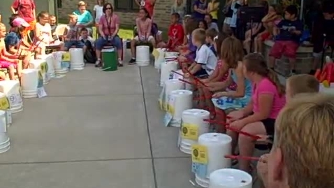 Thumbnail for entry 10:00 a.m. performance (part 4) of Bucket Drumming - Rock Ledge Summer School 2015