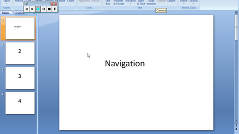 Thumbnail for entry PowerPoint and creating Navigation