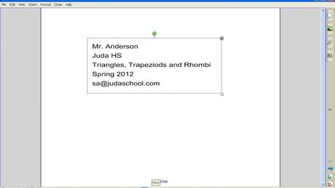 Thumbnail for entry Triangles, Trapezoids, Rhombus Spring 2012 Juda Math
