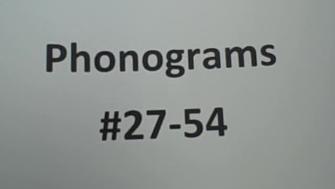 Thumbnail for entry Phonograms #27-54