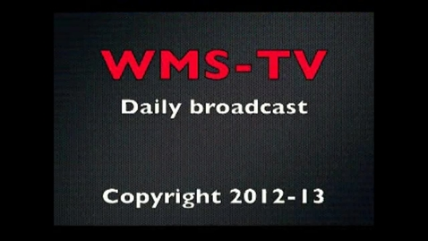 Thumbnail for entry Morning Broadcast December 13, 2012