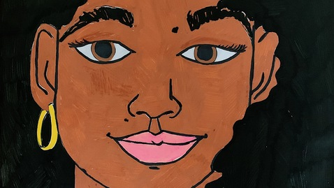 Thumbnail for entry 8th Grade Self Portrait Art Project
