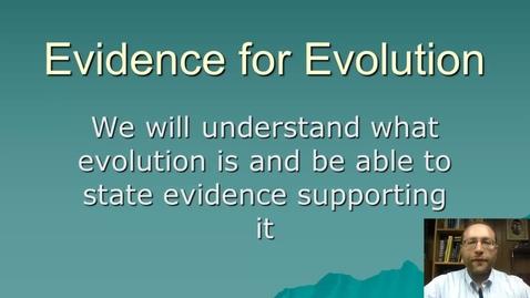 Thumbnail for entry Evidence for evolution