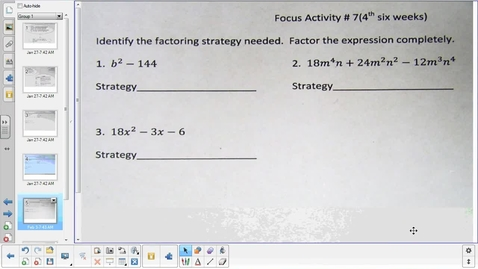 Thumbnail for entry Adding and subtracting rational functions pt 2   2-3-15