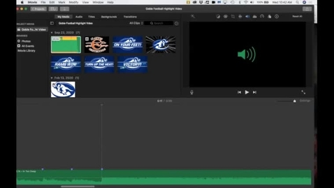 Thumbnail for entry iMovie Football Highlight video editing - adding and marking music