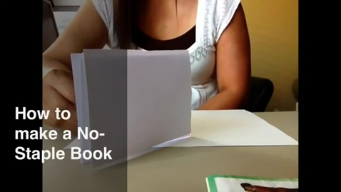 Thumbnail for entry How to Make a No-Staple Book