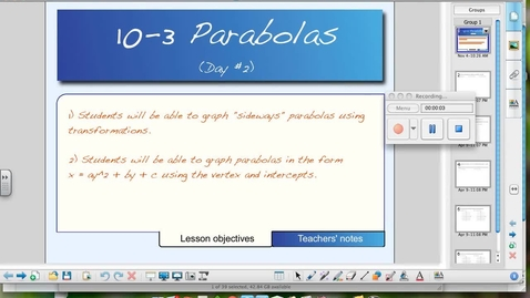 Thumbnail for entry 10-3 Parabolas (Day # 2)
