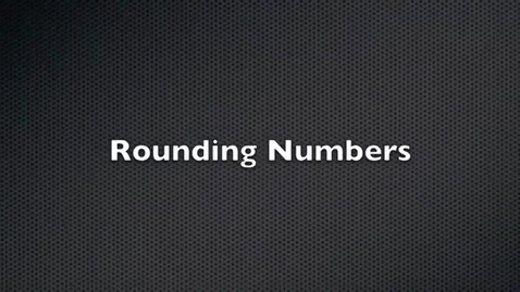 Thumbnail for entry Rounding Numbers Rap