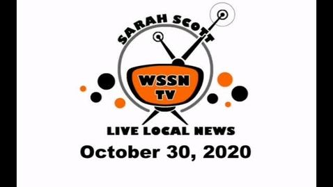 Thumbnail for entry WSSN News October 30, 2020