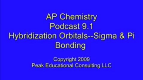 Thumbnail for entry AP Chem 9.1 Hybrid Orbitals