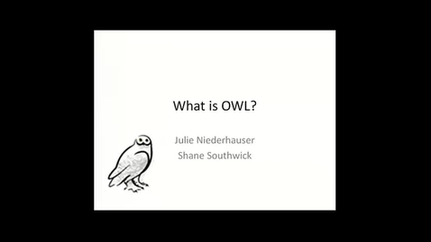 Thumbnail for entry OWL Videoconference: What is OWL?, December 19, 2012