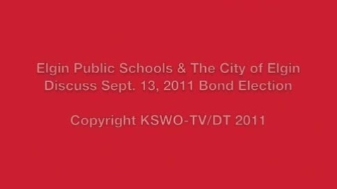 Thumbnail for entry Sept. 13 School Bond Election Information