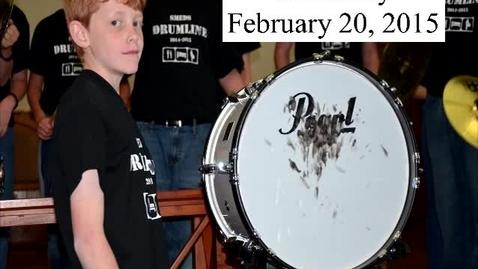 Thumbnail for entry SMEDS Drumline February 20, 2015