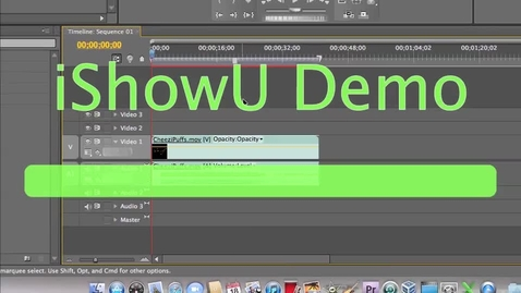 Thumbnail for entry How to do Titles in Adobe Premiere