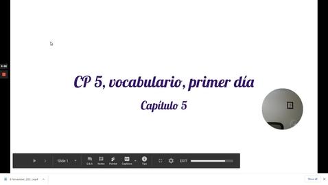 Thumbnail for entry CP 5 VOCABULARIO 1 (REV)