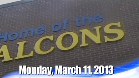 Thumbnail for entry The Falcon Daily  Monday, March 11, 2013
