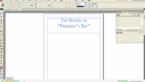 Thumbnail for entry Placing Pictures in InDesign