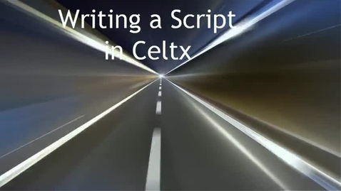 Thumbnail for entry Writing a script for Celtx