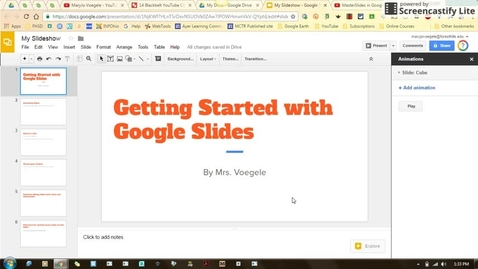 Thumbnail for entry Getting Started with Google Slides