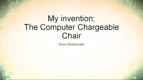 Thumbnail for entry Computer Chargeable Chair, by Diana