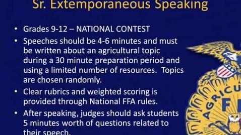 Thumbnail for entry NY FFA Sr. Extemp CDE Overview