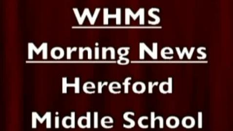 Thumbnail for entry 9-12-11 wHMS Morning News