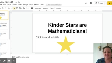 Thumbnail for entry Kinder Star Math 5 25 - Google Slides