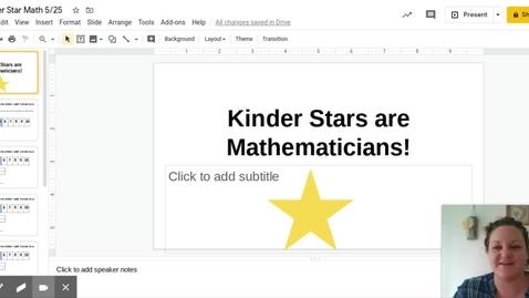 Thumbnail for entry Kinder Star Math 5 25 - Google Slides