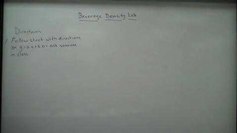 Thumbnail for entry Beverage Density Lab
