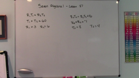 Thumbnail for entry Saxon Algebra 1 - Lesson  87 - Systems of Equations - Tests for Functions