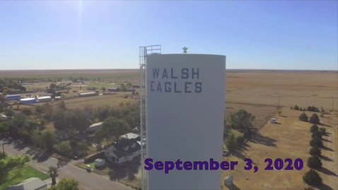 Thumbnail for entry 1. (9-3-20) Newz 27 Walsh High School