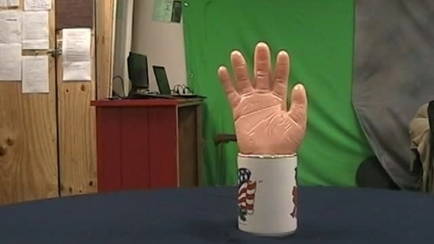 Thumbnail for entry Stop Motion: Hand Drinks Water
