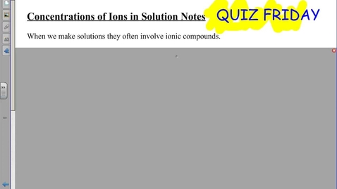 Thumbnail for entry Concentration of Ions in Solutions Notes